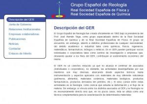 Web del GER (Grupo Español de Reología)